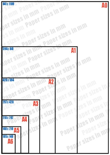 Paper sizes wsa for Printer paper size